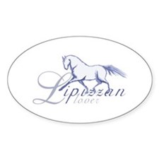 Lipizzan Horse Oval Decal