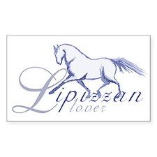 Lipizzan Horse Rectangle Decal