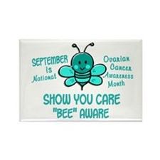 Ovarian Cancer Awareness Month 4.1 Rectangle Magne
