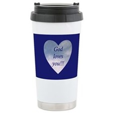 """God loves you"" Travel Mug"