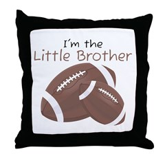 Football Little Brother Throw Pillow