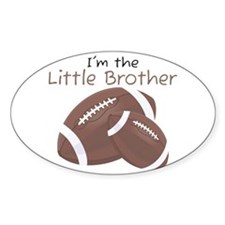 Football Little Brother Oval Decal