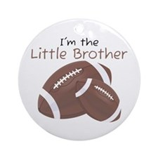 Football Little Brother Ornament (Round)