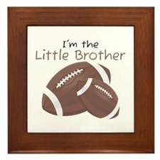 Football Little Brother Framed Tile