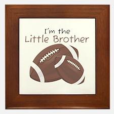 Football Little Brother Framed Tile