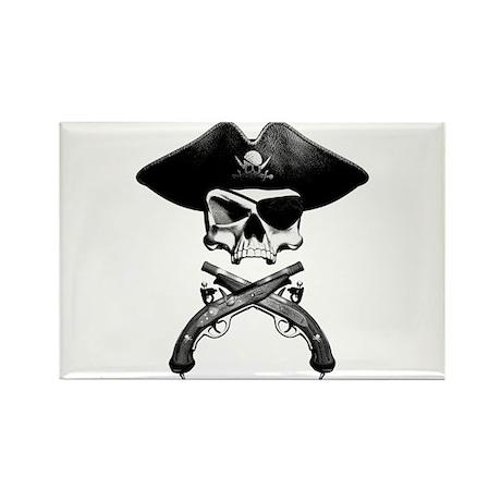 Jolly Roger Rectangle Magnet (10 pack)