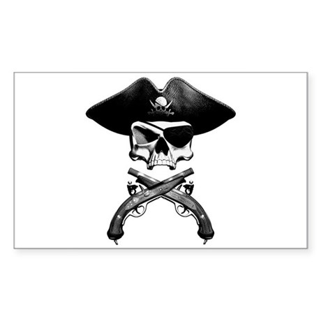Jolly Roger Rectangle Sticker
