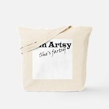 I'm Artsy, She's Fartsy Tote Bag