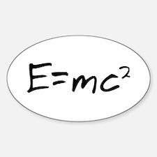 Basic Relativity Oval Decal