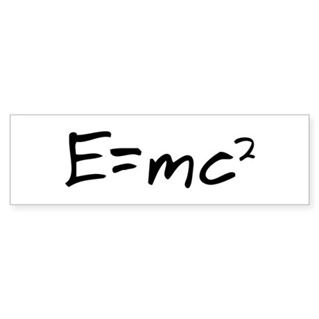 Basic Relativity Bumper Sticker