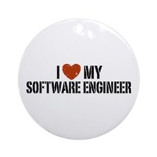 I Love My Software Engineer Ornament (Round)