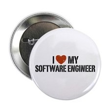 "I Love My Software Engineer 2.25"" Button"