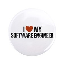 "I Love My Software Engineer 3.5"" Button"