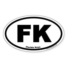 Florida Keys FK Euro Oval Decal