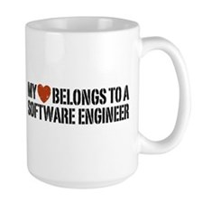 My Heart Belongs to a Software Engineer Mug