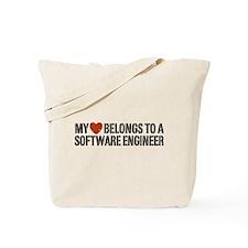 My Heart Belongs to a Software Engineer Tote Bag