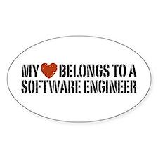My Heart Belongs to a Software Engineer Decal