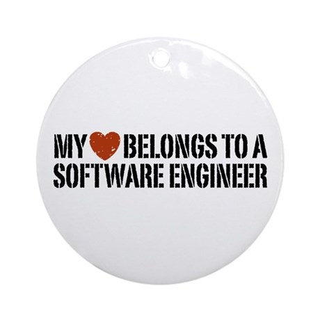 My Heart Belongs to a Software Engineer Ornament (
