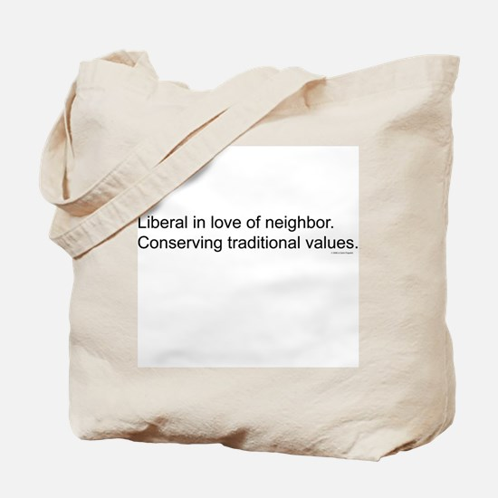 Liberal/Conservative Tote Bag
