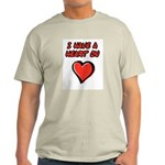 I Have a Heart On Ash Grey T-Shirt