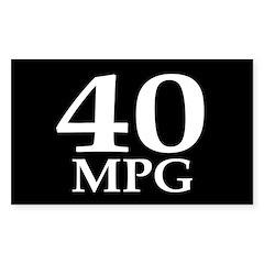 40 mpg (fuel efficiency bumper sticker)