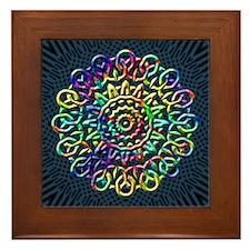 Rainbow Knots Framed Tile