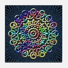 Rainbow Knots Tile Coaster