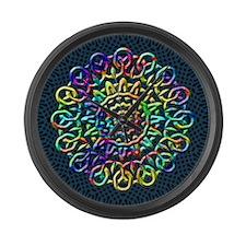 Rainbow Knots Large Wall Clock