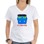 LI'L MONSTER Women's V-Neck T-Shirt