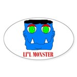 LI'L MONSTER Oval Sticker
