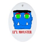 LI'L MONSTER Oval Ornament