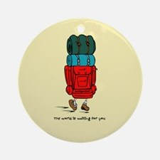 Backpacker Ornament (Round)