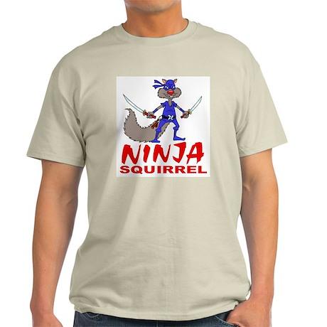Ninja Squirrel Light T-Shirt