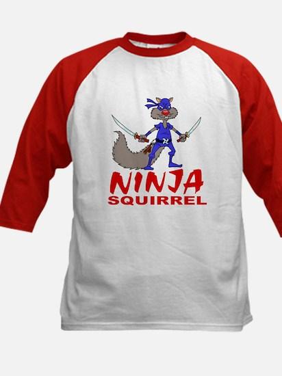 Ninja Squirrel Kids Baseball Jersey