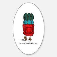 Backpacker Oval Decal