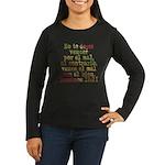 Romanos 12:21 Women's Long Sleeve Dark T-Shirt