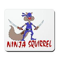 Ninja Squirrel Mousepad