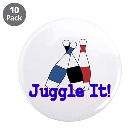 """Juggle It 3.5"""" Button (10 pack)"""
