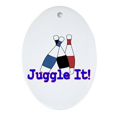 Juggle It Oval Ornament