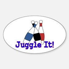 Juggle It Oval Decal