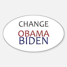 obama/biden Oval Decal