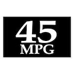 45 mpg (car mileage bumper sticker)