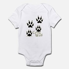 Gray Wolf Track Design Infant Bodysuit