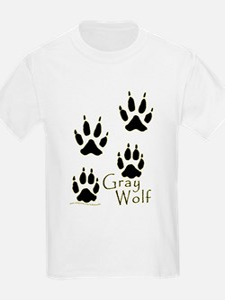 Gray Wolf Track Design T-Shirt