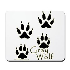 Gray Wolf Track Design Mousepad