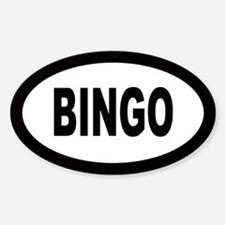 Bingo Oval Decal