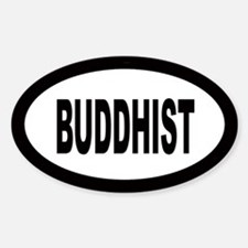 Buddhist Oval Decal