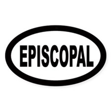 Episcopal Oval Decal
