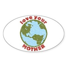 Love Your Mother Oval Sticker (10 pk)