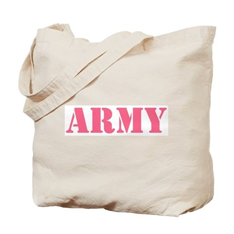 Pink Army Tote Bag